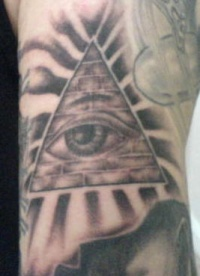Pyramid symbol tattoo